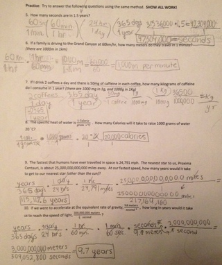 Unit 2:1 Dimensional Analysis Worksheet & Take Home Quiz - Chemistry ...
